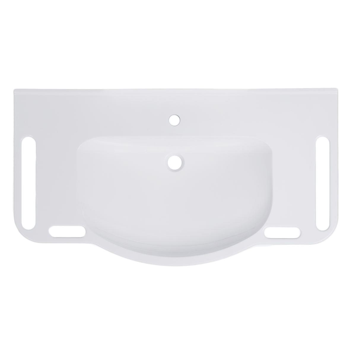 Article number WBM-1002-1 without overflow / with tap hole, top view